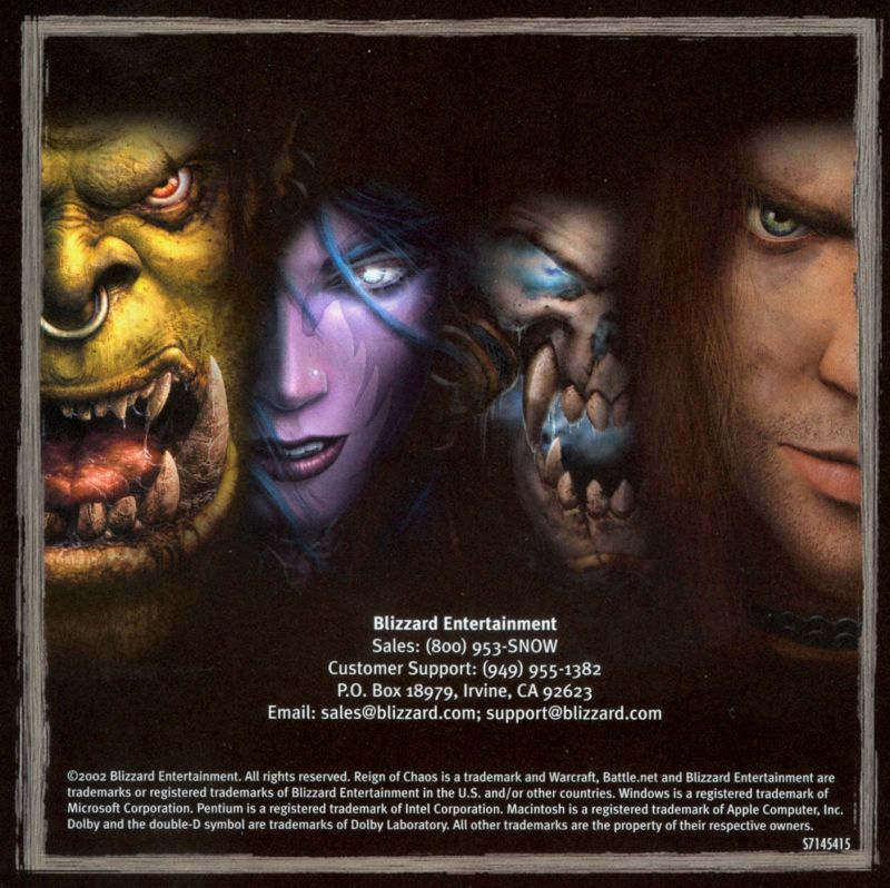 Warcraft III: Reign of Chaos (Collector's Edition) Macintosh Other Jewel Case - Left Inlay