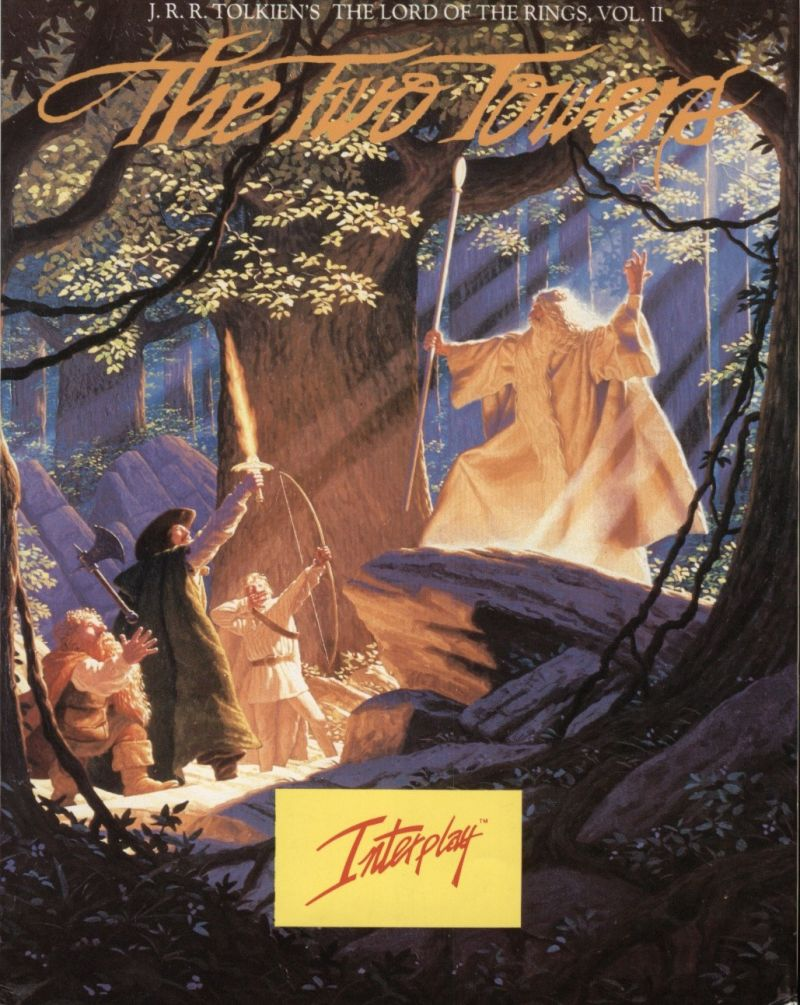 J.R.R. Tolkien's The Lord of the Rings, Vol. II: The Two Towers DOS Front Cover