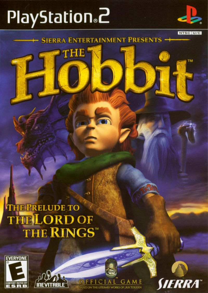 The Hobbit PlayStation 2 Front Cover