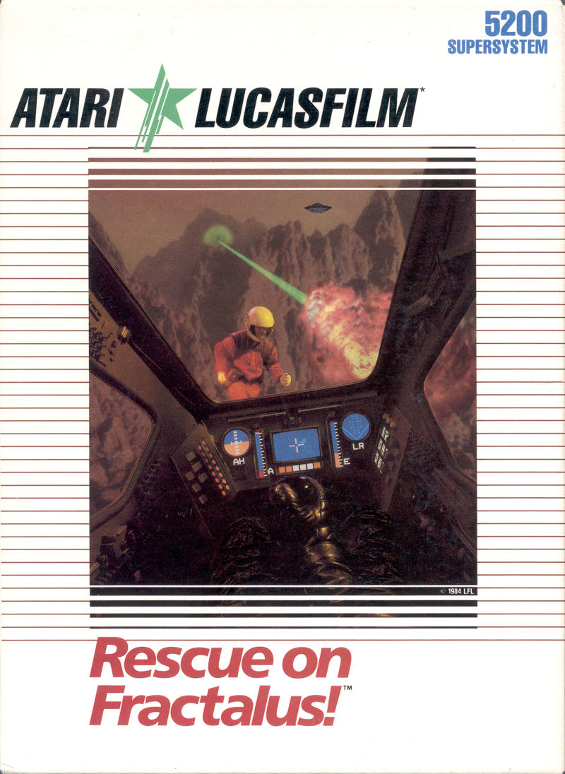 Rescue on Fractalus! Atari 5200 Front Cover