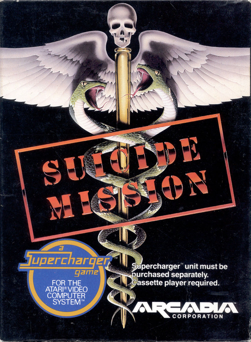 Suicide Mission Atari 2600 Front Cover