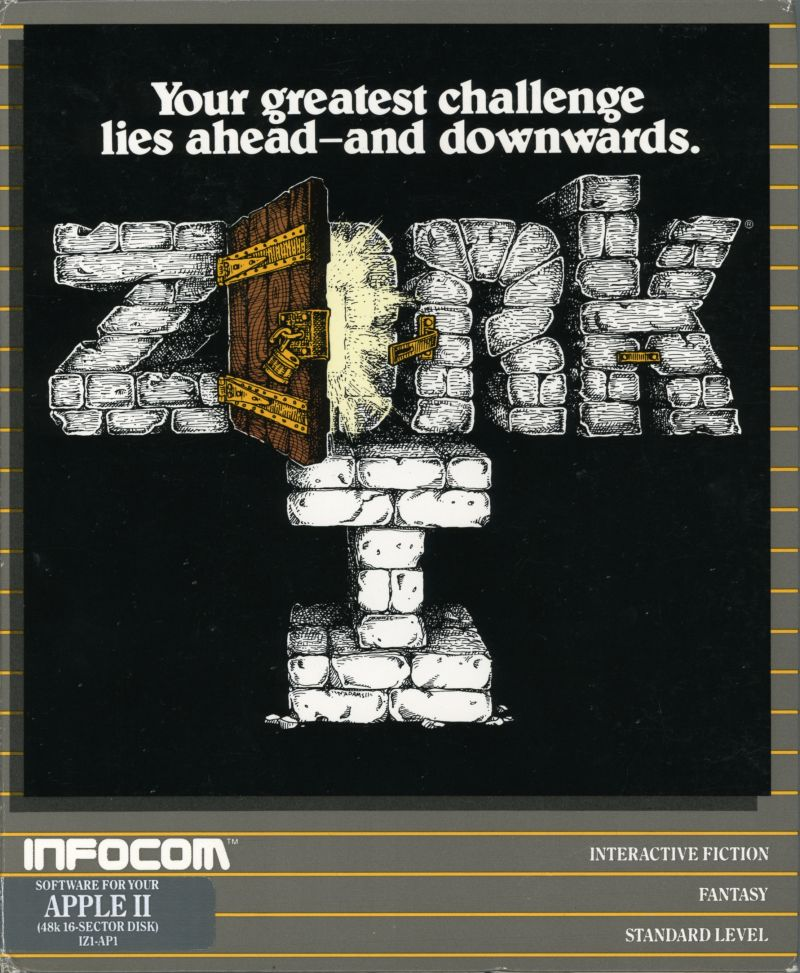 Zork: The Great Underground Empire Apple II Front Cover
