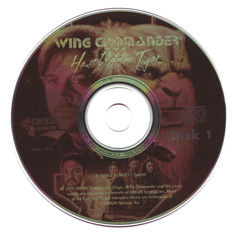 Wing Commander III: Heart of the Tiger DOS Media Disc 1