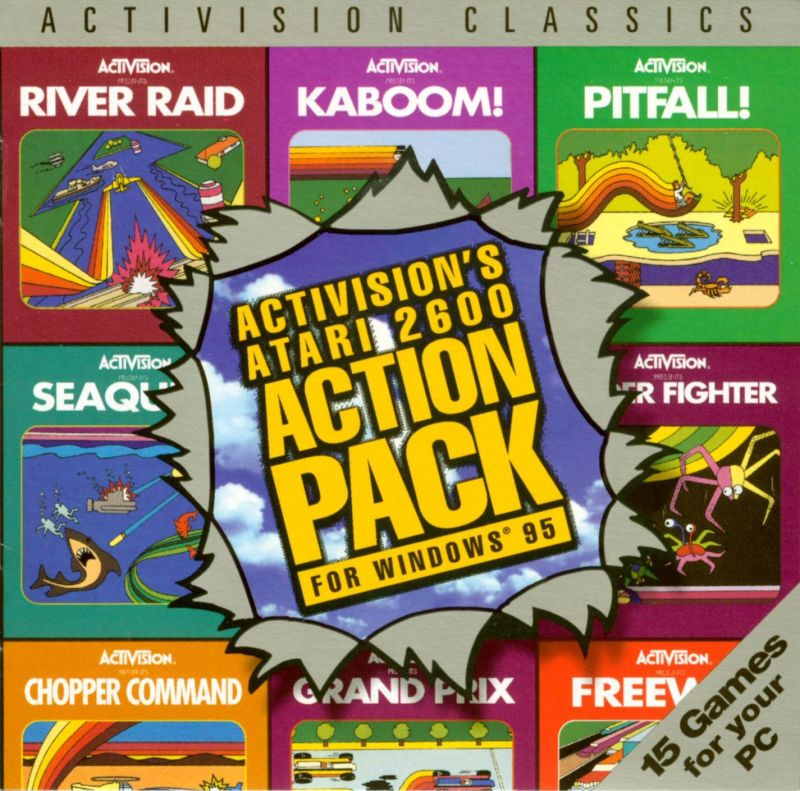 Activision's Atari 2600 Action Pack Windows Other Jewel Case - Front