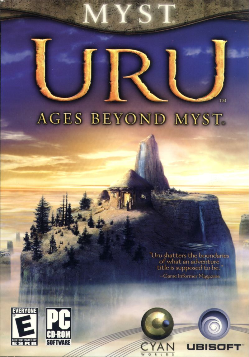 Uru: Ages Beyond Myst Windows Front Cover