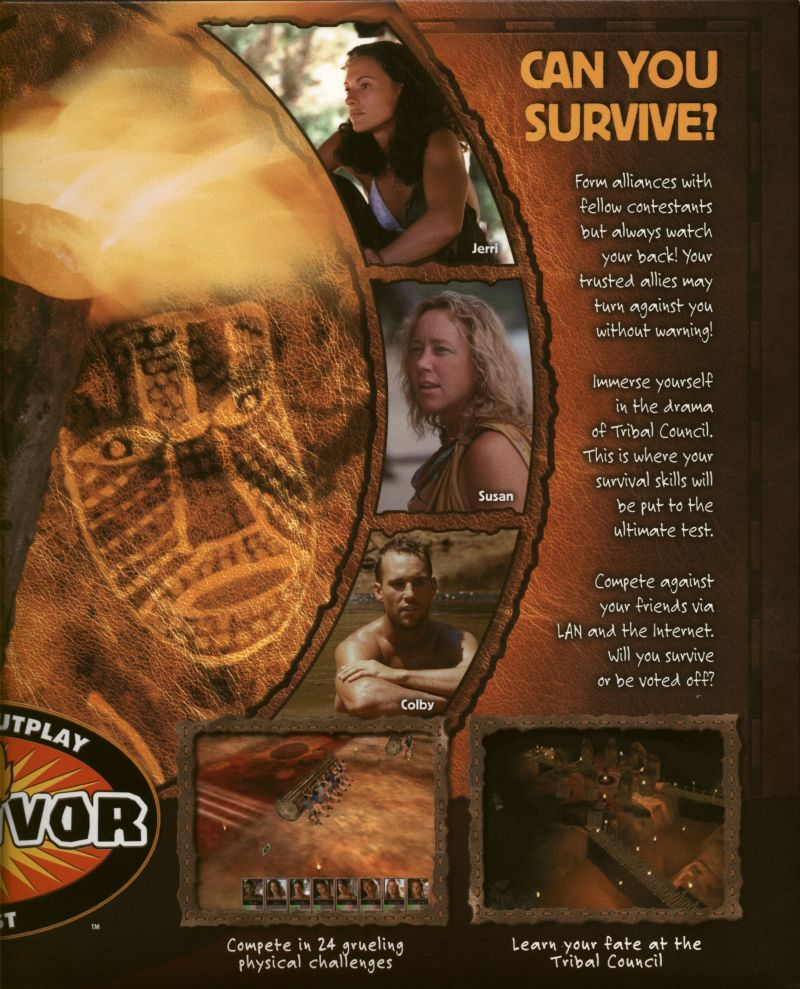 Survivor: The Interactive Game Windows Inside Cover Right Flap