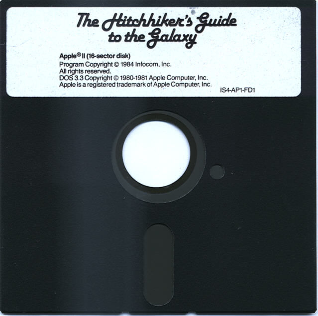 The Hitchhiker's Guide to the Galaxy Apple II Media