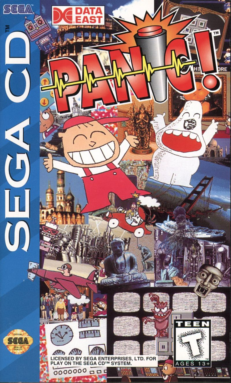 Panic! SEGA CD Front Cover
