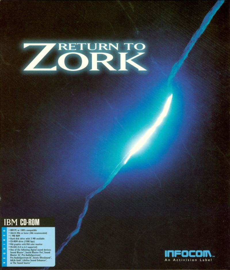 Return to Zork DOS Front Cover