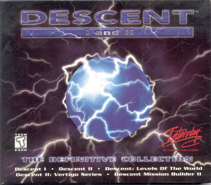 Descent I and II: The Definitive Collection DOS Front Cover