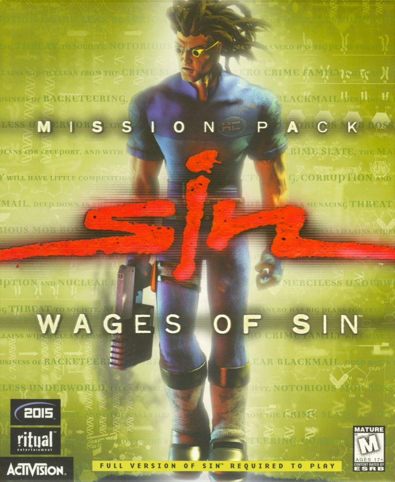 SiN: Wages of Sin Windows Front Cover