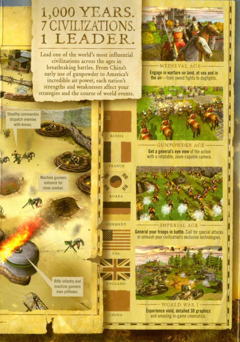 Empires: Dawn of the Modern World Windows Inside Cover Right Flap