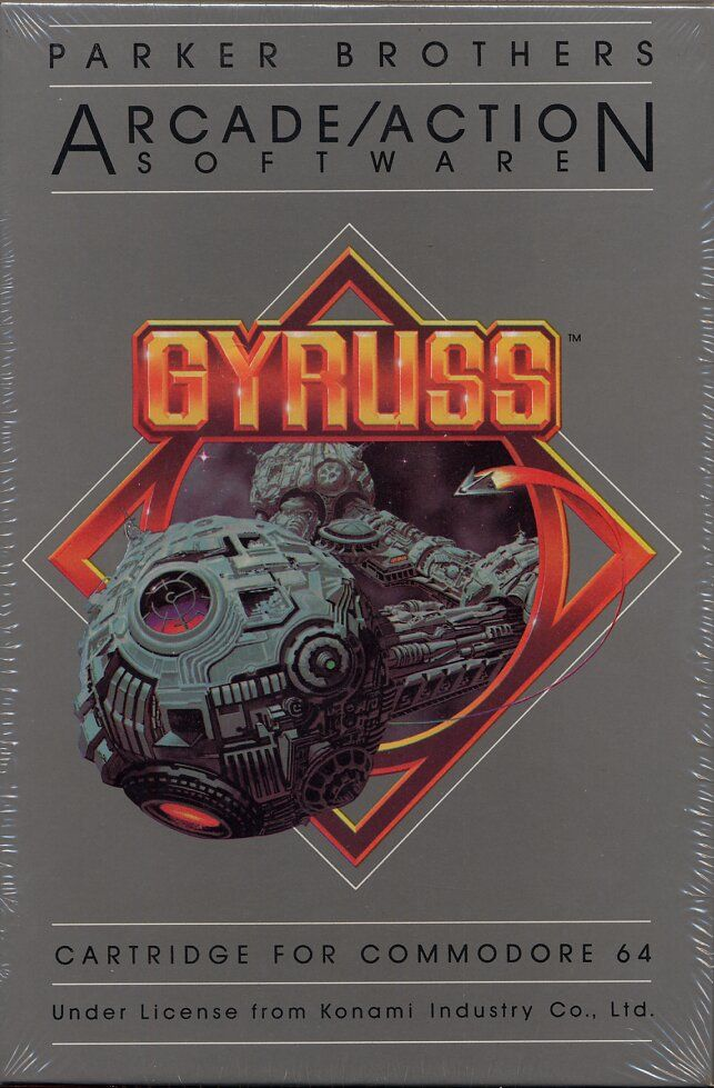 Gyruss Commodore 64 Front Cover