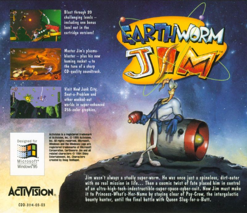 Earthworm Jim: Special Edition Windows Other Jewel Case - Back