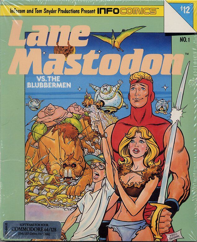 Lane Mastodon vs. the Blubbermen Commodore 64 Front Cover