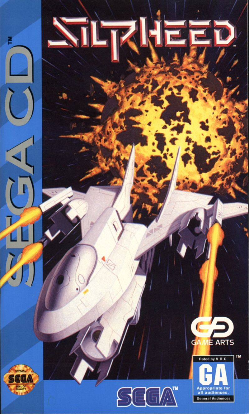 Silpheed SEGA CD Front Cover