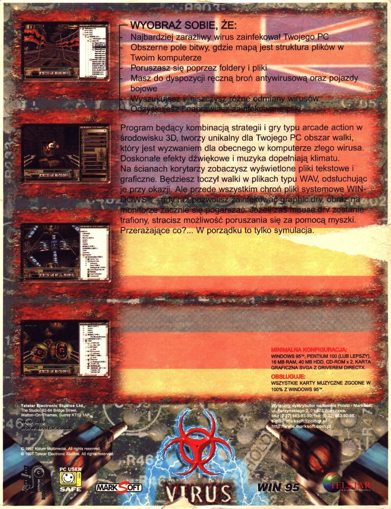 Virus: The Game Windows Back Cover