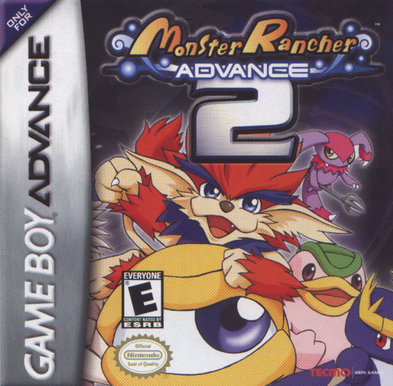 Monster Rancher Advance 2 Game Boy Advance Front Cover
