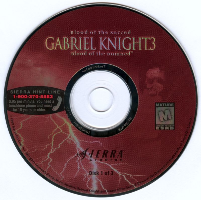 Gabriel Knight 3: Blood of the Sacred, Blood of the Damned Windows Media Disc 1/3