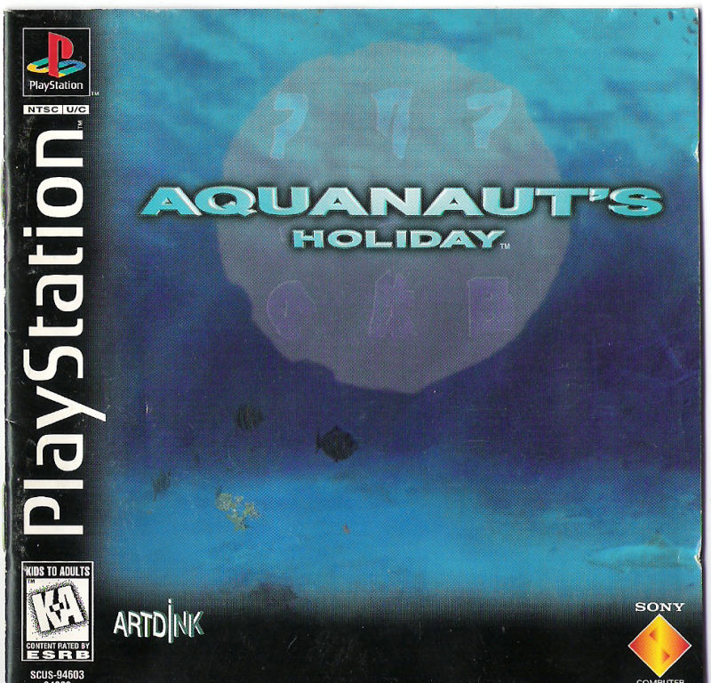 Aquanaut's Holiday PlayStation Front Cover