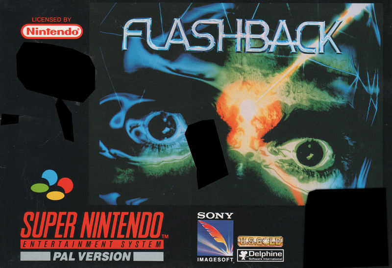 Flashback: The Quest for Identity SNES Front Cover