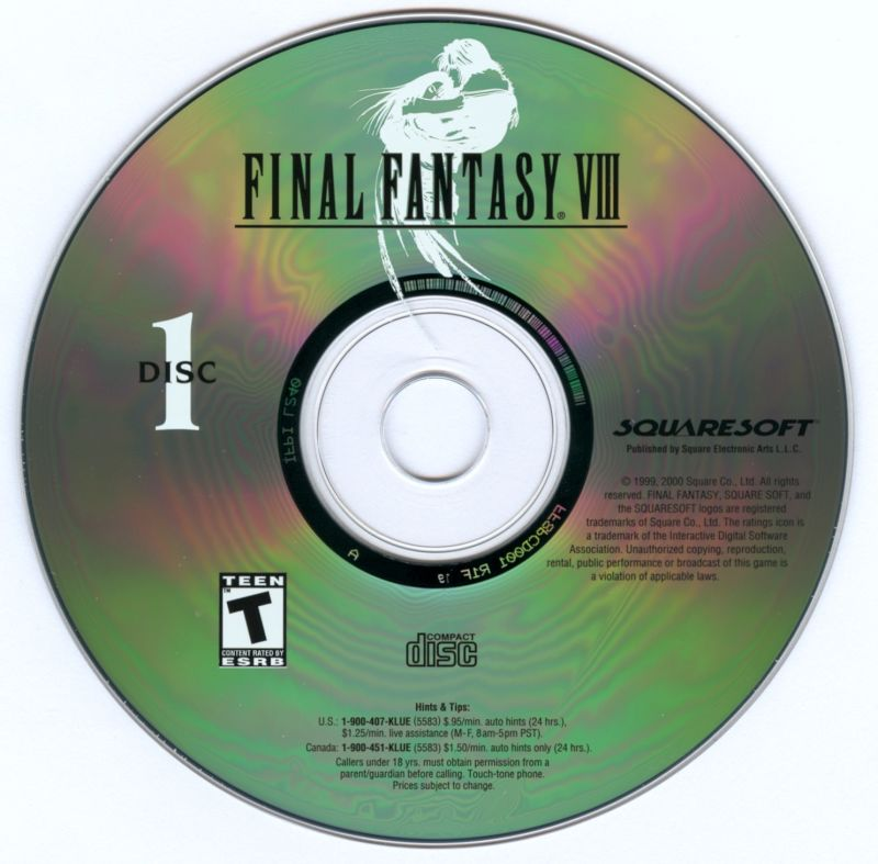 Final Fantasy VIII Windows Media Gameplay Disc 1/4