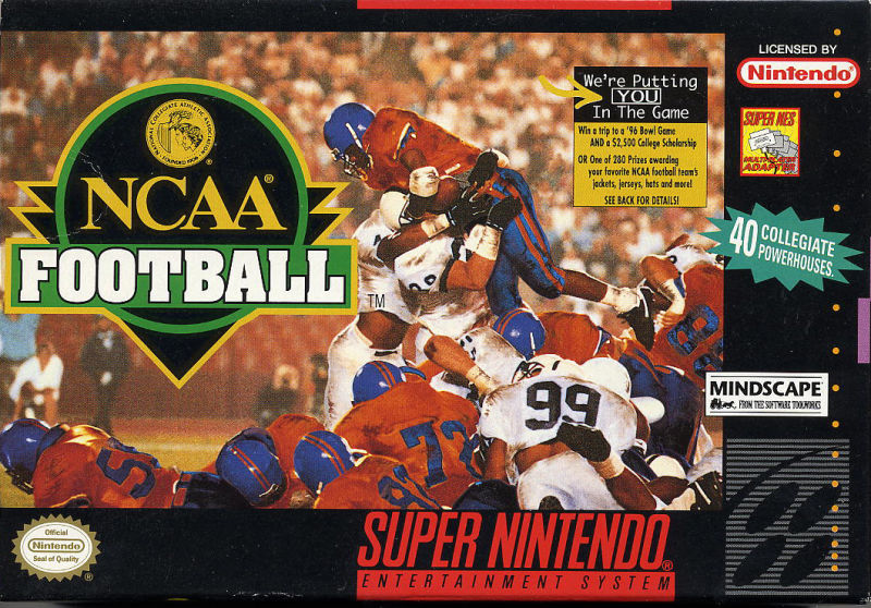 NCAA Football SNES Front Cover