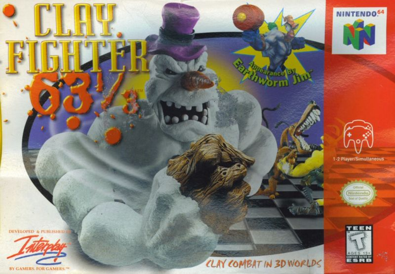 Clay Fighter 63 1/3 Nintendo 64 Front Cover
