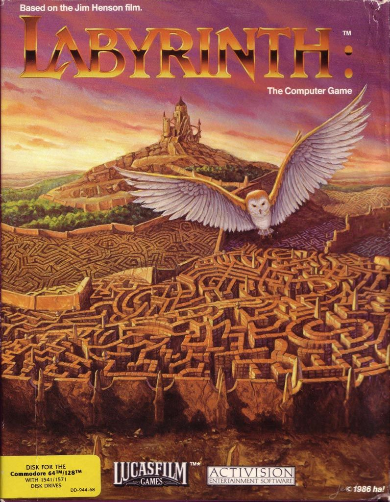 Labyrinth Commodore 64 Front Cover