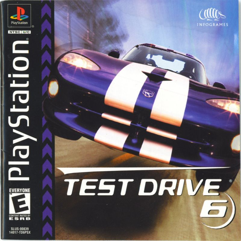 Test Drive 6 PlayStation Front Cover
