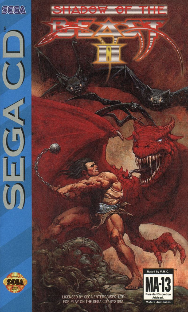 Shadow of the Beast II SEGA CD Front Cover