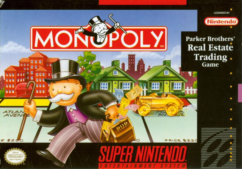Monopoly SNES Front Cover