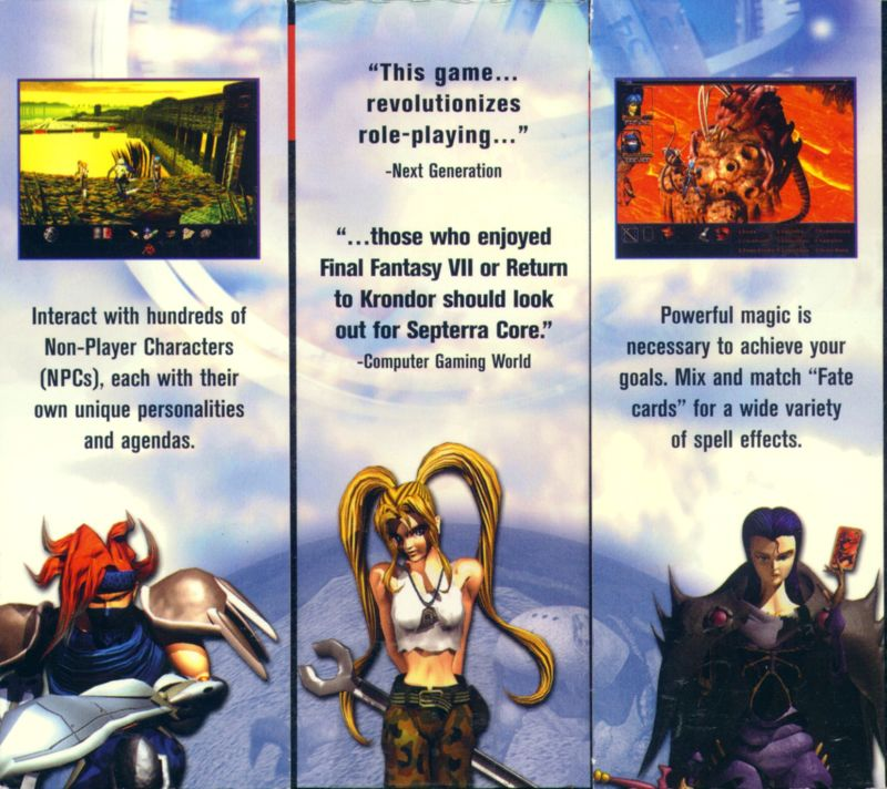 Septerra Core: Legacy of the Creator Windows Back Cover Bottom