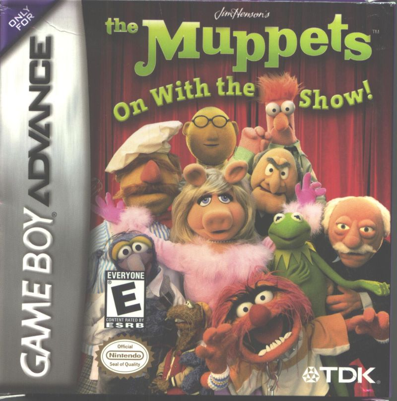The Muppets: On with the Show Game Boy Advance Front Cover