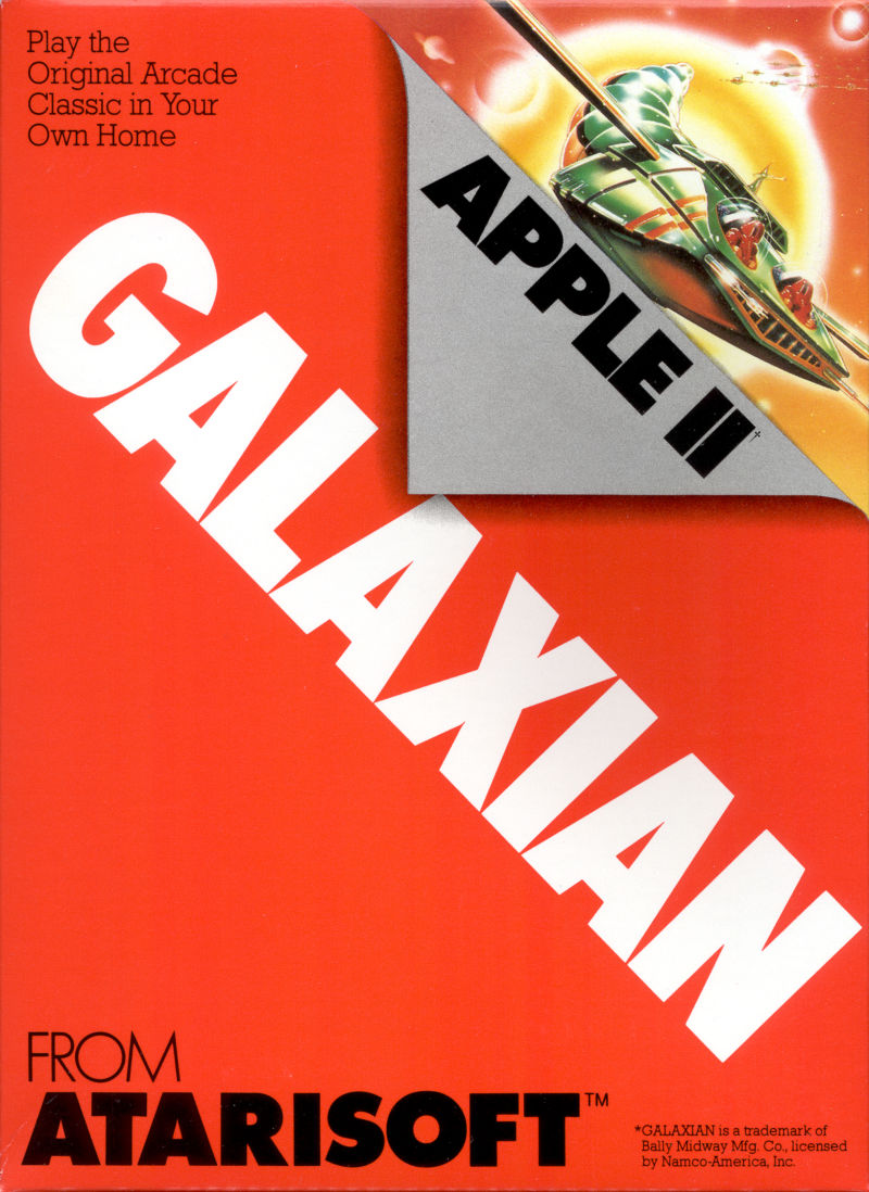 Galaxian Apple II Front Cover