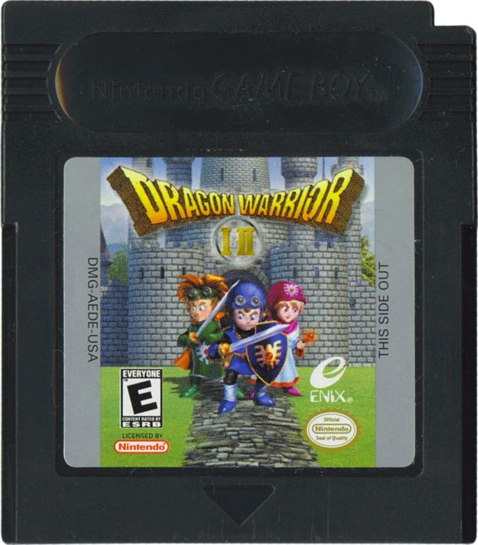 Dragon Warrior I & II Game Boy Color Media