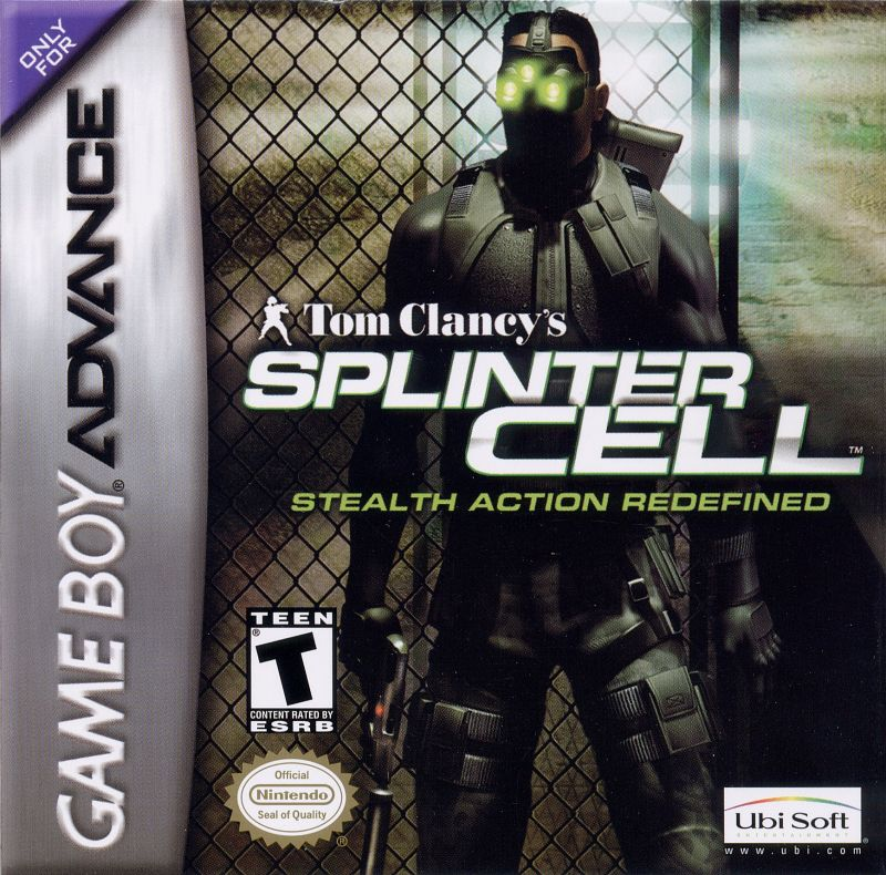 Tom Clancy's Splinter Cell Game Boy Advance Front Cover
