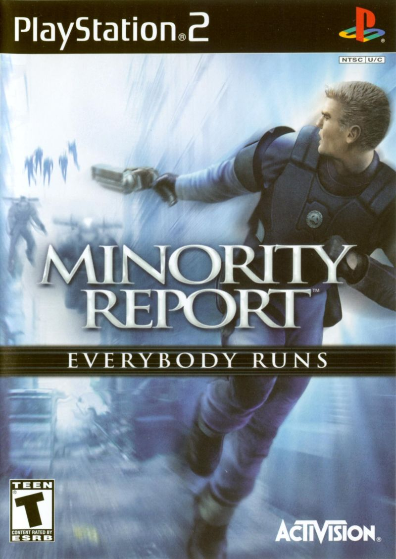 Minority Report: Everybody Runs PlayStation 2 Front Cover