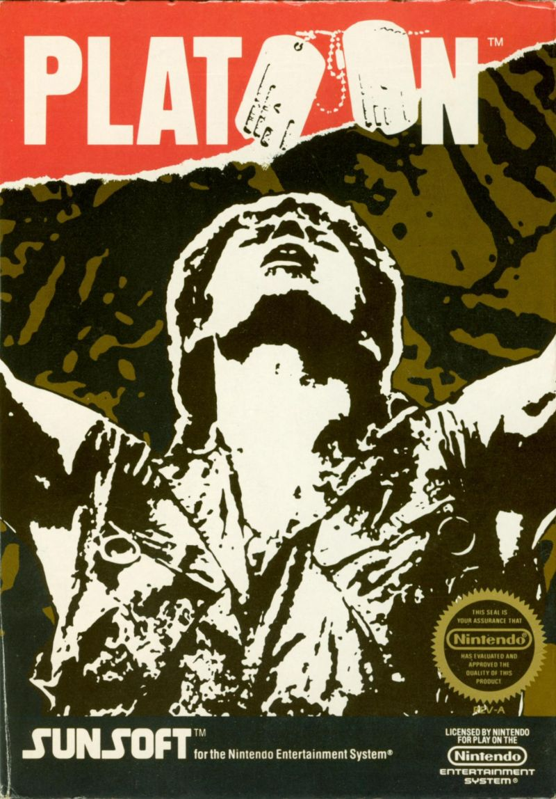 Platoon NES Front Cover