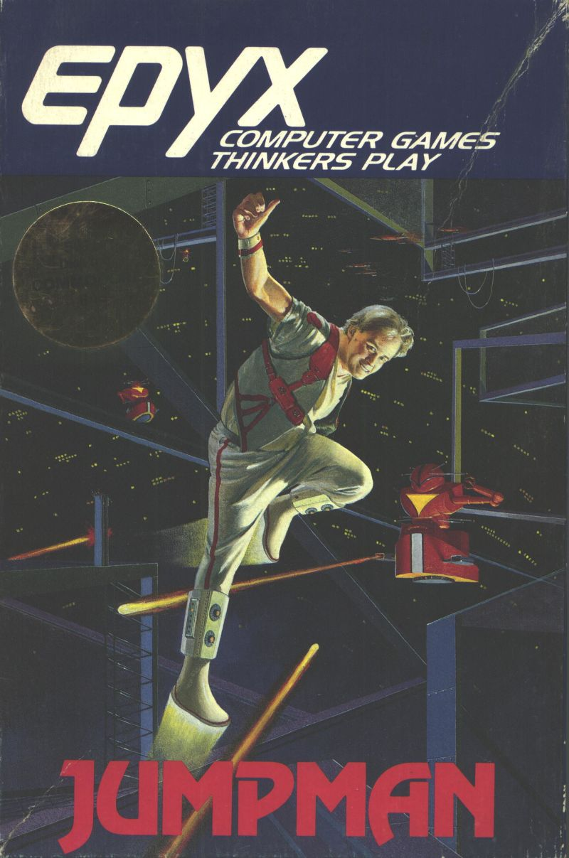 Jumpman Commodore 64 Front Cover