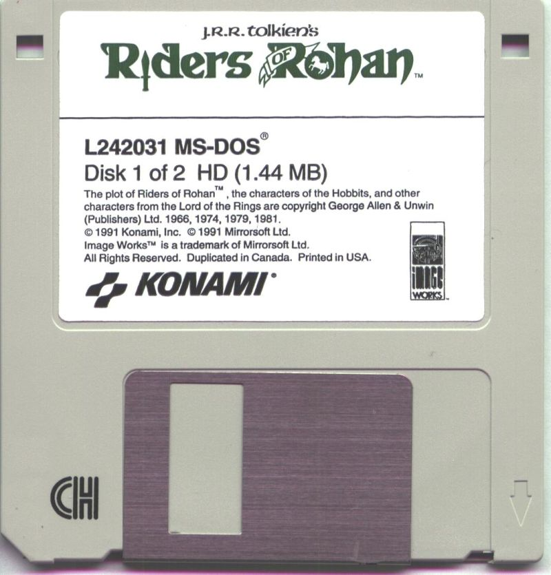 J.R.R. Tolkien's Riders of Rohan DOS Media Disk 1/2