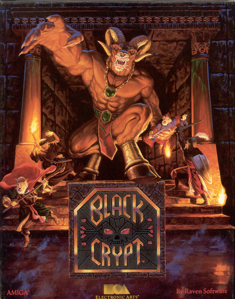 Black Crypt Amiga Front Cover