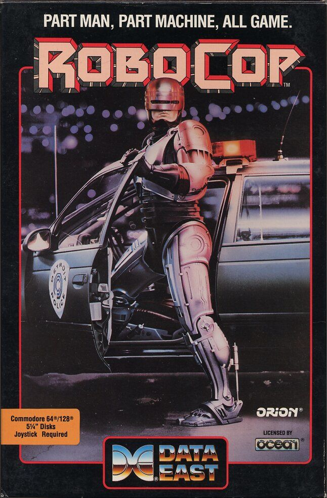 RoboCop Commodore 64 Front Cover