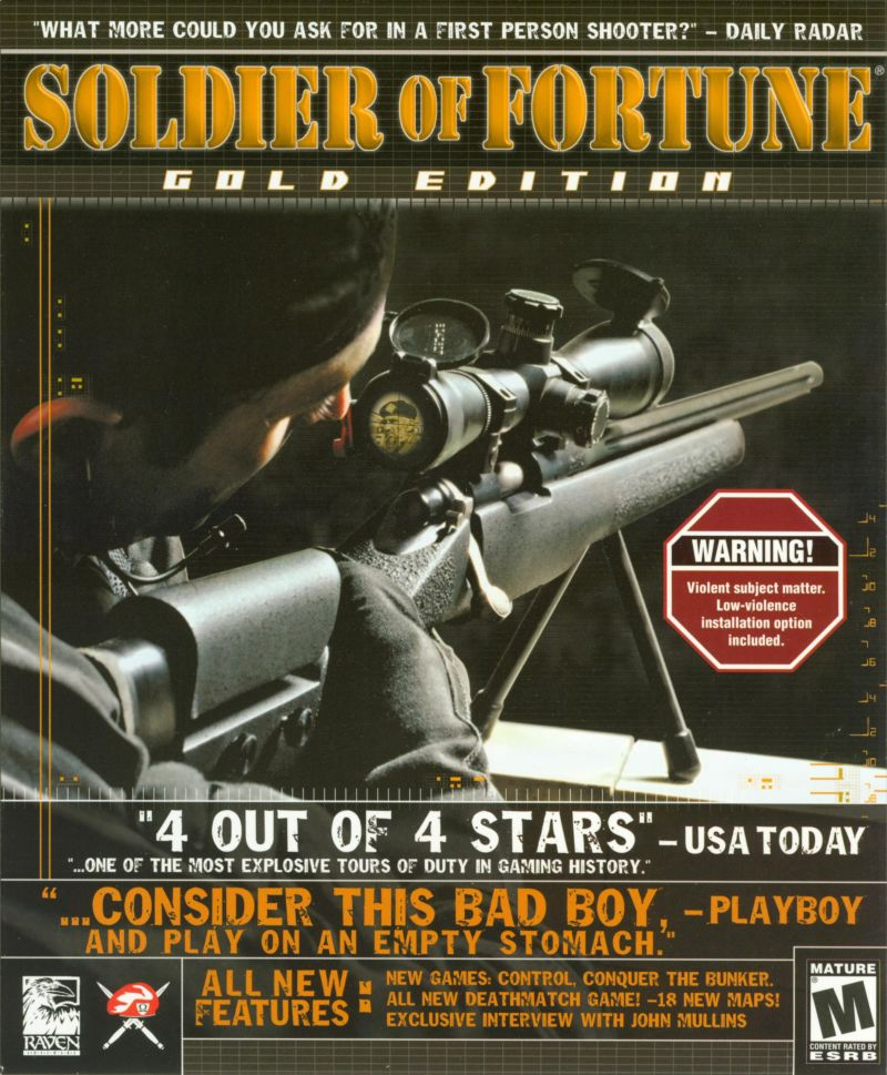 Soldier of Fortune (Gold Edition) Windows Front Cover