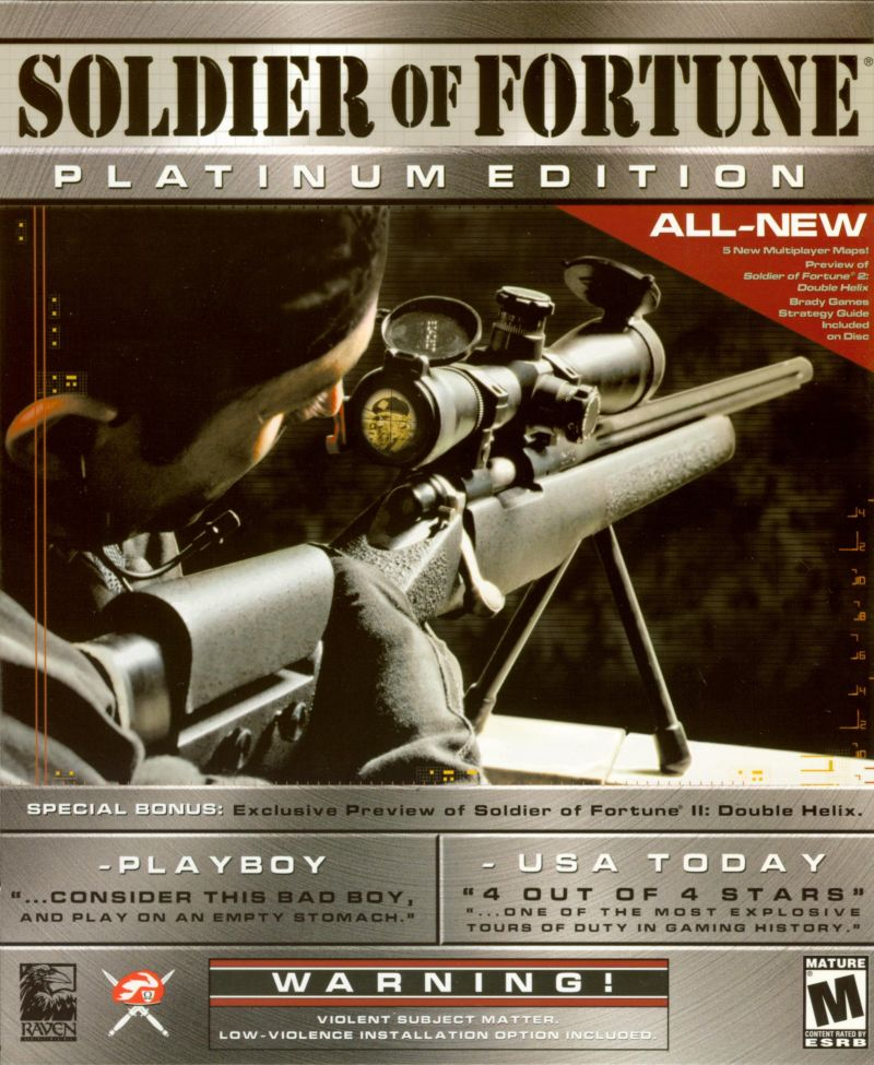 Soldier of Fortune (Platinum Edition) Windows Front Cover