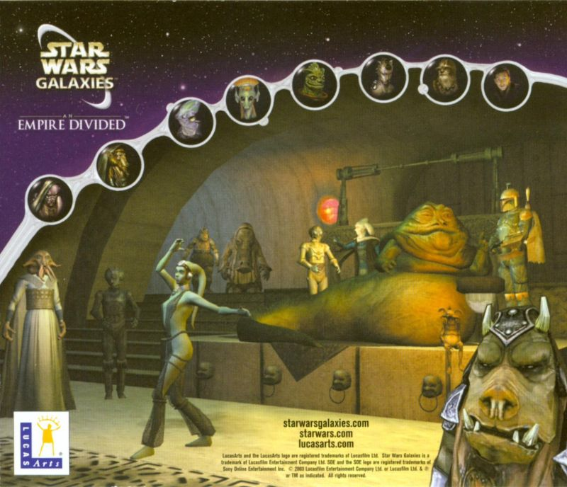 Star Wars: Galaxies - An Empire Divided Windows Other Jewel Case - Back