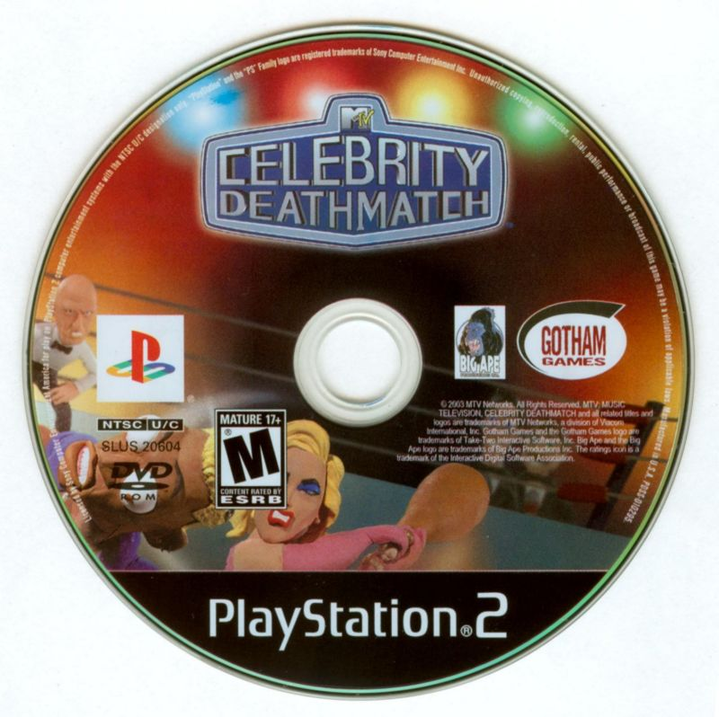 MTV Celebrity Deathmatch PlayStation 2 Media