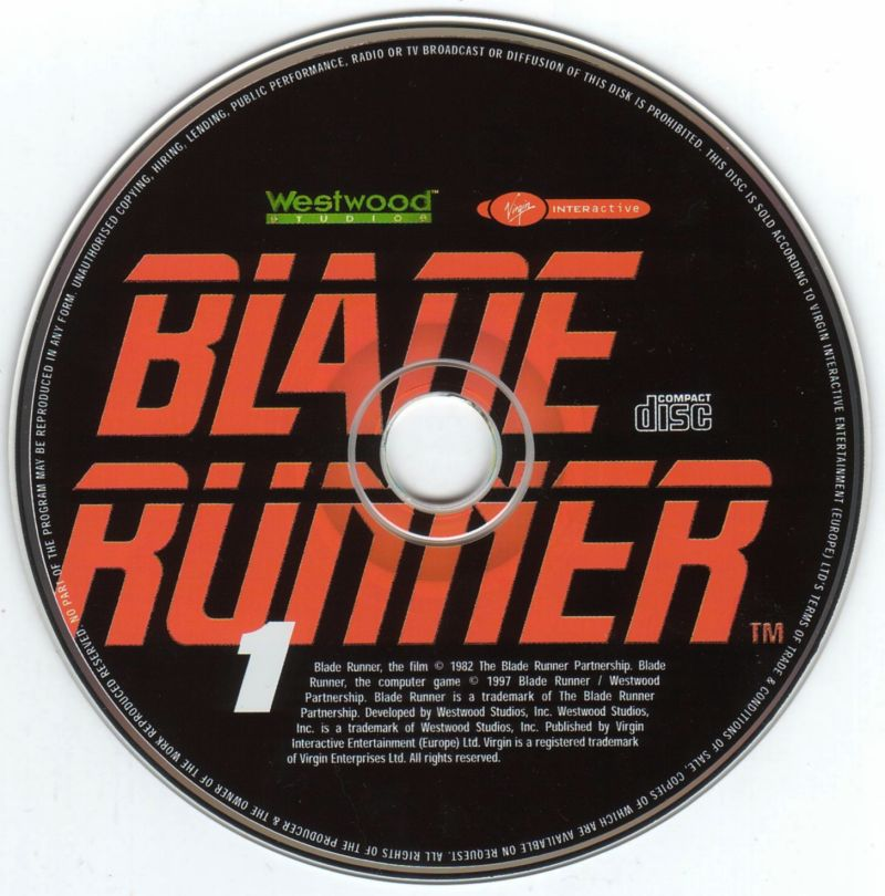 Blade Runner Windows Media Disc 1/4