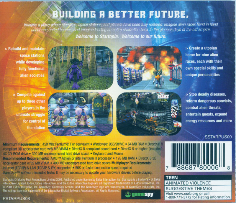 Startopia Windows Other Jewel Case - Back