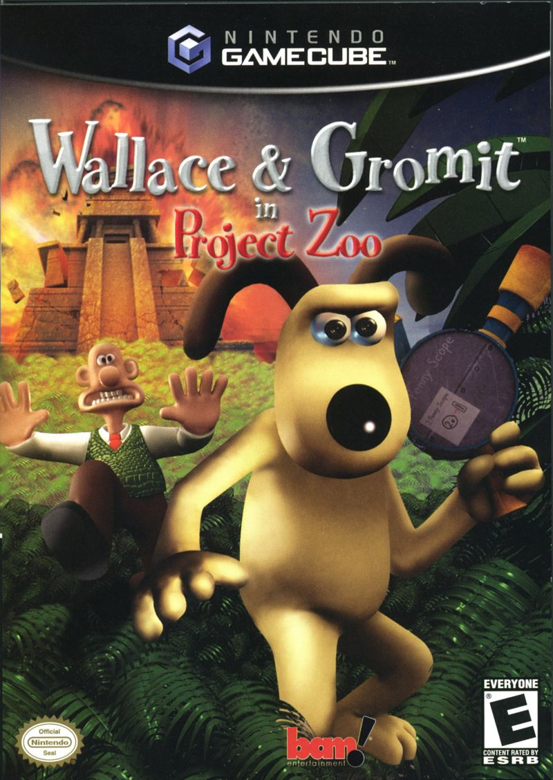 Wallace & Gromit in Project Zoo GameCube Front Cover